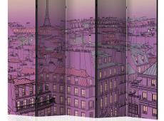 Paraván - Friday evening in Paris II [Room Dividers]